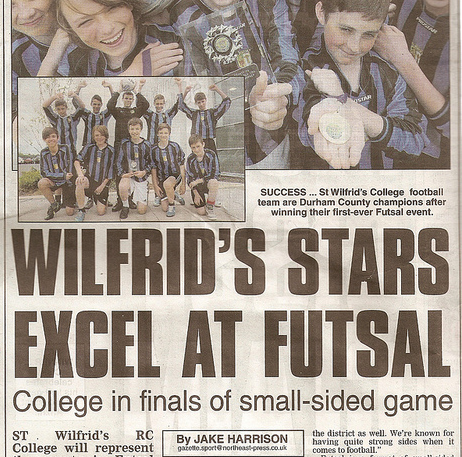St. Wilfrid's RC College stars excel at Futsal